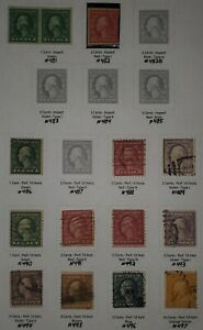 US Stamps Washington/Franklin coils/imperf L5 used