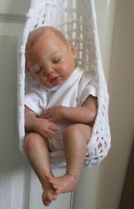 REBORN BABY  - Hand painted hair.