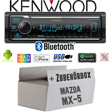 Kenwood Autoradio für Mazda MX-5 MX5 Bluetooth MP3 USB iPhone Android Spotify