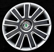 "Brand New silver/black  14"" wheel trims to fit  SKODA OCTAVIA, FABIA ,FELICIA"