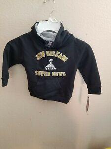 New Orleans Super Bowl XLVII Toddler Sweatshirt Hoodie NWT Size 2T NFL