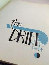 1934 BUTLER UNIVERSITY YEARBOOK The Drift Rare Depression Era Indianapolis Deco