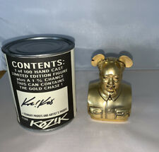 Frank Kozik  Metal Bird Is The Word Gold Colored  Chase Mini Bust Ultra Rare