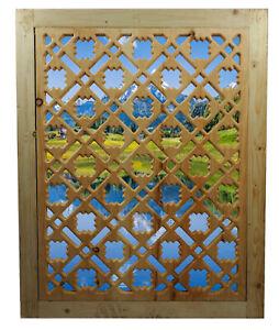 100x80 cm Afghan massiv holz Gitter Maschrabiyya Jali Wanddekoration wooden grid