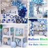 4Pcs Kit Transparent Baby Shower Party Decoration Balloon Block Cube Gift Box