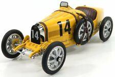 Modellino m100b008 bugatti t35 n 14 nation coulor project belgium 1924 yellow