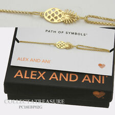 Authentic Alex and Ani Pineapple 14kt GP Pull Chain Bracelet