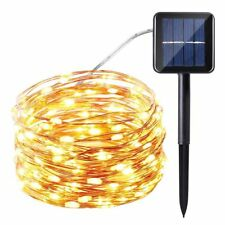 100LED……Fairy String Rope Light Solar Power Controller Waterproof Outdoor Xmas
