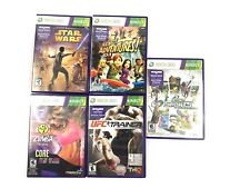Lot of 5 Microsoft Xbox 360 Kinect games UFC trainer,Star Wars,Zumba,Deca,Advent