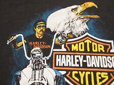VINTAGE HARLEY DAVIDSON 1989 RIDE HARD RIDE FREE T-SHIRT M.S. MADE IN CANADA