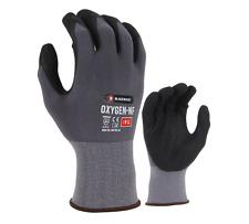 12x Pair Blackrock Oxygen Nylon Nitrile Foam Work Oily Wet Dry Gloves (BRG101)