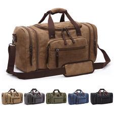 Canvas Travel Tote Luggage Large Men's Weekend Gym Shoulder Duffle Bag & Strap