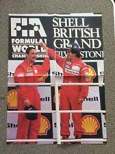 Collectable 1989 British GP Podium Poster Mansell Prost Ferrari McLaren Poster