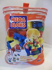 #A Megabloks 80 pc Large Mega bloks Blocks Bag used CONSTRUCTION toy building