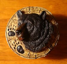 BLACK BEAR PAW PRINT Lodge Cabinet Cabin Kitchen Drawer Pull Handle Decor NEW