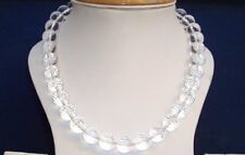Dimond Cut Crystal Yoga Japa Mala Sphatik Transparent Stone 108 +1 Beads