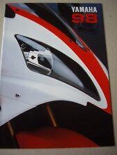 Yamaha 1998 range brochure, YZF-R1, V Max 1200 etc