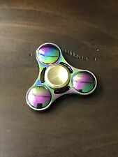FAST ZINC alloy METAL tri color FIDGET SPINNER 3D EDC finger hand TOY rainbow