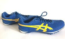 Asics G301Y Men's Fast Lap MD Track and Field Shoes Blue & Yellow Size 8