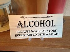 Shabby & Chic Wedding signs Plaques, Funny Alcohol message Bride Groom gift
