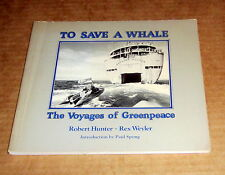 Rare 1978 Signed REX WEYLER SAVE A WHALE VOYAGES GREENPEACE ENVIRONMENTAL Russia