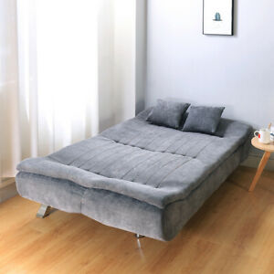 3 Seater Linen Fabric Sofa Bed 2 IN 1 Sofa Bed Couch Settee Living Room uk