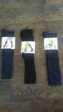 HUE knee socks womens one size - LOT of 3 black navy blue NEW NWT
