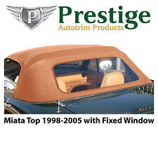 Mazda Miata NB Tan Convertible Top Soft Top Roof Non-Zippered Window 1998-2005
