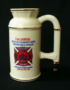 1984~71st.Annual~BUCKS COUNTY~Newton PA~BEER MUG~Firemen's Assn~PARADE~LEWIS BRO