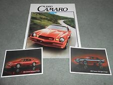 1980 CAMARO Z28 BERLINETTA RS Etc 16 p. BROCHURE + 2 ORIGINAL POSTCARDS 80 CHEVY