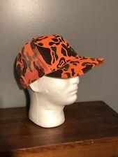 Orange Camoflauge Camo Snapback Trucker Hat Vintage