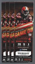 2016 NFL NEW YORK GIANTS @ CLEVELAND BROWNS FULL UNUSED FOOTBALL TICKETS (4)