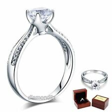 925 Sterling Silver Wedding Engagement Ring Brilliant 1.25 Carat Lab Diamond