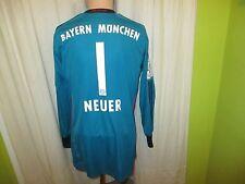 "FC Bayern München Adidas Torwart Trikot 2013/14 ""-T--"" + Nr.1 Neuer Gr.M Neu"