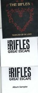 THE RIFLES 3 RARE PROMO CD'S [THE GREAT ESCAPE/TANGLED UP IN LOVE/SAMPLER ]