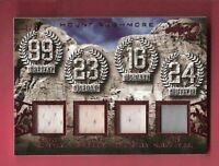 MICHAEL JORDAN JOE MONTANA WAYNE GRETZKY KEN GRIFFEY GAME USED JERSEY CARD #1/3