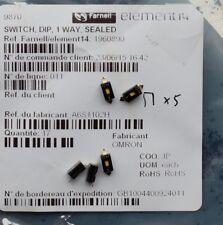 OMRON A6S1102H -  Commutateur DIP / SIP, 1 Circuit(s), SPS24 VDC  Qté 5