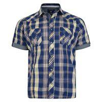 hommes GRANDE TAILLE manche courte coton à carreaux léger de chemise 2XL - 8XL