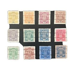 MOZAMBIQUE CO.,SCOTT # 45-54(10)56/57(2),1898 COAT OF ARMS OVERPRINTED ISSUE MNG