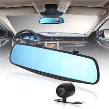 Dual Lens Cam Vehicle Front Rear Car DVR Video Recorder Dash Cam HD 1080P EM