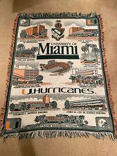 University Of Miami Hurricanes Orange Bowl Blanket Throw 64x48 Nice Unique
