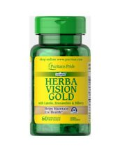 Puritan's Pride Herbavision Gold with Lutein Bilberry and Zeaxanthin 60 softgels
