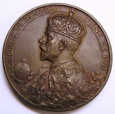 Great Britain Large Bronze Medal 1911 Coronation of King George V and Queen Mary