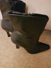 Faith Size 5 Black Leather Ankle Boots