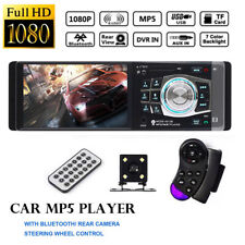 "4.1"" 1 DIN Car Stereo Radio MP5 MP3 Screen Player Bluetooth Remote + Rear Camera"