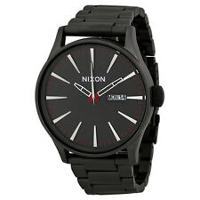 Nixon Sentry SS Black Dial Gunmetal Ion-plated Mens Watch A356131