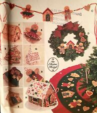 1995 'SIMPLICITY' XMAS TREE TOPPER  SKIRT WREATH SWAG CHURCH HOUSE PATTERN 9768