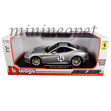 BBURAGO 18-76103 FERRARI CALIFORNIA T HOT ROD #14 70TH ANNIVERSARY 1/18 SILVER