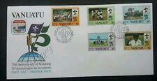 Vanuatu 75th Anniversary Of Scouting 1982 Uniform Camping (stamp FDC) *clean
