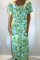 Curvaceous Brand Green Floral Chiffon Maxi Dress PLUS Size S BNWT #TO26